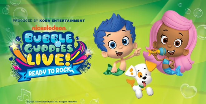 Bubble Guppies Logo with Molly and Gil