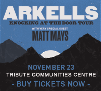 Arkells Knocking at the Door Tour with very special guest Matt Mays